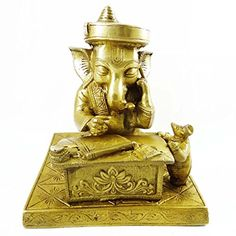Lord Ganesha Brass Sculpture Dcorative Small Metal Figurine Religious Art India >>> Learn more by visiting the image link. (This is an affiliate link and I receive a commission for the sales)
