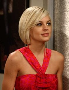 Short Blond Straight Bob Hairstyle