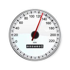 Automobile speedometer classic round sticker