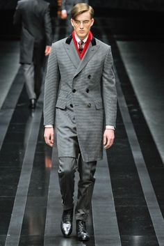Canali Fall 2012 Menswear, Influenced by the Chesterfield coat