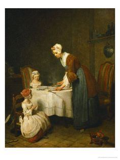 Jean Baptiste Simeon Chardin The Prayer before Meal , Musee du Louvre, Paris. Read more about the symbolism and interpretation of The Prayer before Meal 1 by Jean Baptiste Simeon Chardin. Painting Prints, Canvas Prints, Art Prints, Saying Grace, Louvre Paris, Hermitage Museum, Great Paintings, Art Reproductions, Les Oeuvres
