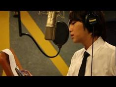 Jang Keun Suk recording Love Rain in Recording Room LOVE RAIN OST ~ <3