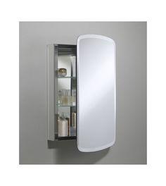 "Kohler K-CB-CLC2031BAN Silver Aluminum 20"" x 31"" Single Door Reversible Hinge Frameless Mirrored Medicine Cabinet - FaucetDirect.com"