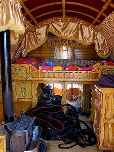 Gypsy Wagon Interiors | Design and the World: She was a Gypsy woman...