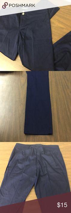 """Lauren Ralph Lauren Navy Pants Lauren Ralph Lauren size 6 Petite. Navy blue pants. Zipper, 2 gold snap buttons, & an inner button top closure. 2 front slit pockets (still sewn shut). 98% Cotton 2% Elastane. Inseam: 25"""". Worn only once! Lauren Ralph Lauren Pants"""