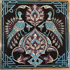 Turkish Tiles, Tile Art, Porcelain Tile, Tile Design, Islamic Art, Pattern Art, Folk, Ceramics, Bird