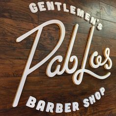 Created this awesome wood logo for @pab_losbarbershop. #Carved_WallArt  Logo Design: @acevvvedo