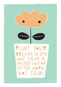 Plant Your Dreams In Love - Fine Art Print (Large)