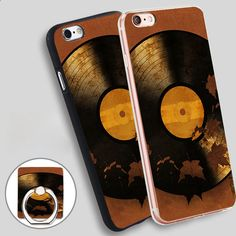 Autumn Song Print Phone Ring Holder Soft TPU Silicone Case Cover for iPhone 4 4S 5C 5 SE 5S 6 6S 7 Plus