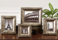 Camber Rustic Photo Frames, Set/4