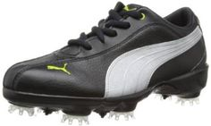 Made from leather with a manmade sole these womens PG tallula leather golf shoes by Puma will ensure you stay dry and comfortable when out on the course