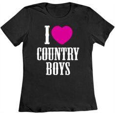 """I Heart Country Boys™"" Long Sleeve T shirt, $24.99"