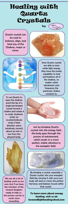 Healing with quartz crystals http://www.loveandlighthealingschool.com/