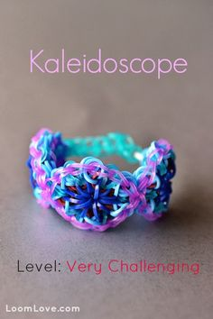 Rainbow Loom Patterns: Kaleidoscope Rainbow Loom Pattern (youtube tutorial) See more: http://rainbowloompatterns.blogspot.com - More on loom & rubber bands + designs visit: http://www.overtherainbowloombands.com