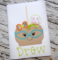 Candy Apple Glasses Girl Applique - 3 Sizes! | What's New | Machine Embroidery Designs | SWAKembroidery.com The Itch 2 Stitch
