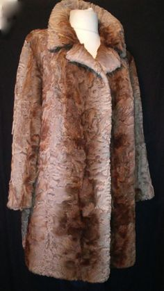 your sixth sense BROADTAIL FUR COAT  Brown karakul  jacket size xxl #yoursixthsense #BasicJacket