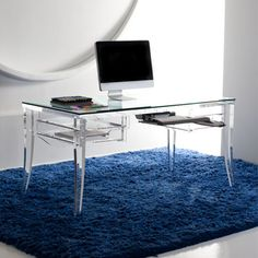 Exceptionnel Traditional Glass Top Home Office Desk U2013 Lawrence Desk By Hstudio