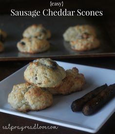 These easy sausage cheddar scones make the perfect breakfast, brunch, or snack food!