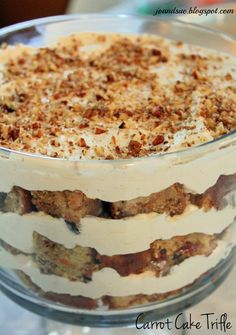 Carrot Cake Trifle - so tasty! Perfect for Easter dessert, or anytime.....