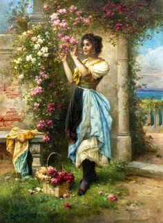 Victorian Paintings, Renaissance Paintings, Victorian Art, Renaissance Art, Vintage Images, Vintage Art, Vintage Ladies, Classic Paintings, Beautiful Paintings
