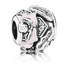 Pandora Charm Wildrose 791527EN40 Sterling Silber Emaille