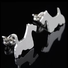 Scottish Terrier Earring Studs