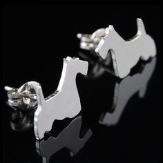 Scottish Terrier Earring Studs
