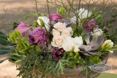 Sioux Falls SD Wedding Floral by Creative Chick purple rose succulent, fresia, white green photo by @Cory Ann Ellis