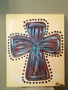 Cross painting on canvas, available at A through Z Creations on FB!