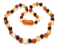 Genuine Raw Baltic Amber Baby Teething Necklace Mixed by BLTAmber