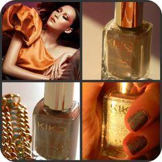 Kiko cosmetics: 399 silk taupe Holographic Nail Laquer