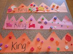 Letter K craft--Letter of the Week-King Crown Letter K Crafts, Preschool Letter Crafts, Preschool Projects, Alphabet Crafts, Daycare Crafts, Classroom Crafts, Alphabet Activities, Preschool Activities, Teach Preschool