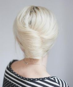 Try this simple French roll: This lovely style will make a statement during an interview or important meeting. It's perfect for second (or even third!) day hair, and has all of the wow with none of the headache. Just wrap, tuck, and pin, and you're on your way.