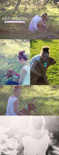 My dog & me photoshoot, photos with your dog, pet photoshoot, dog pictures, dog bow  www.eandhcreates.com www.facebook.com/eandhcreates