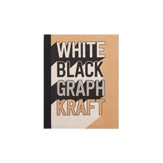 White Black Graph Kraft Notebook ($15) ❤ liked on Polyvore featuring home, home decor and stationery