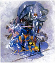 X-Men: Children of the Atom (SEGA Saturn cover) by Bengus
