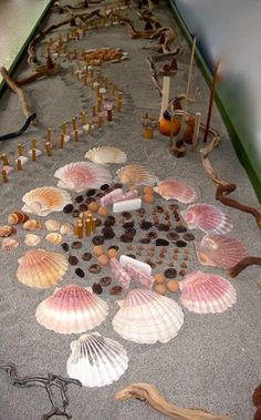 """A massive sand tray with loose parts shared by Early Childhood Hub ("""",) This looks amazing!!!"""