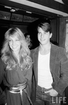 Heather Locklear and Tom Cruise in 1982. #Vintage couple