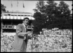 """Andy Griffith performing """"What it Was Was Football"""" at Kenan Stadium, September 25, 1954."""