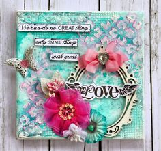 Cathy Can't Help Herself: Mixed Media Canvas - The Trinket Track Created by Cathy Cafun