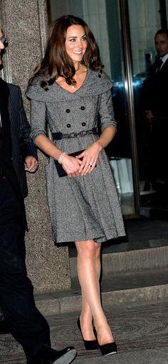 Kate Middleton, Gray Dress - The Hollywood Gossip