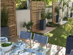 jardin by adambuchon on pinterest old pallets outdoor spaces and pallets. Black Bedroom Furniture Sets. Home Design Ideas
