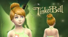 Tinkerbell Hair for Girls at My Stuff via Sims 4 Updates