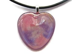Hand painted shimmering purple pink and white by ClarityArtJewelry