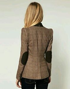1d61f4b860cf2 Ted Baker Checked Sharp Shoulder Blazer with Suede Elbow Patches Obsessed  with blazers!