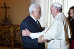 Pope meets 'angel of peace' Abbas after treaty announcement
