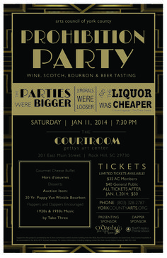 Prohibition party invitation by catrina dyas 50th godfather the acycs annual wine scotch tasting is a prohibition party filmwisefo