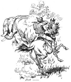 """Illustration from """"Book of Good Hunting"""""""