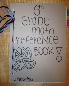 Students make a math reference book from their other math notebooks at the end of the year. Idea from I Speak Math