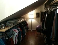 For everyday dressing luxury or off-season clothing storage, explore your attic's potential